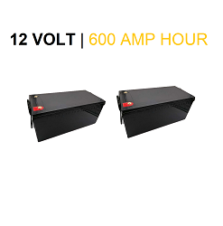 (TWO) x 12 Volt 300 Amp Hour LIFEP04 Lithium Batteries / 12V 600Ah Total