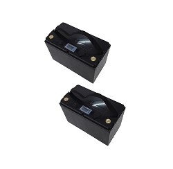 (2) x 12 Volt 100 Amp Hour LIFEP04 Lithium Battery 12V 100AH