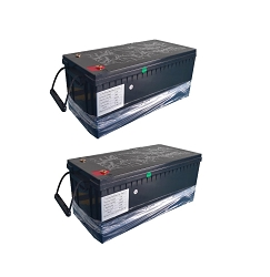 12 Volt 600 Amp Hour LIFEP04 Lithium Battery System | ABS Case | TWO x 300Ah = 12V 600Ah Total