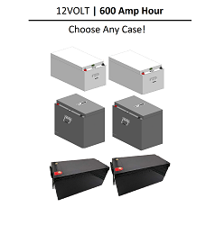 12 Volt 600 Amp Hour LIFEP04 Lithium Battery | 12V 600Ah Total | 2 x 300Ah | 300A Discharge